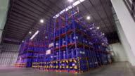 High storage rack warehouse video