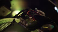 High technology glowing macro detail video