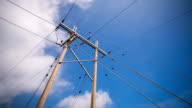 High voltage electricity pylon video