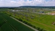High voltage power transformation station video