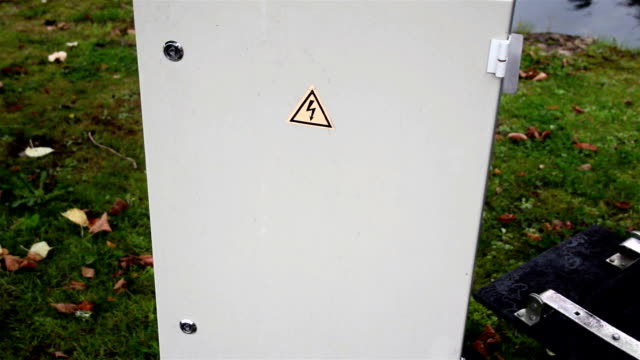 High voltage sign on the cabinet video