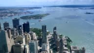 High-Level View of Battery Park and Governors Island video