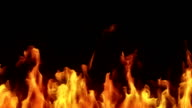 Highly detailed flames. Alpha matte. Loopable. Macro. video