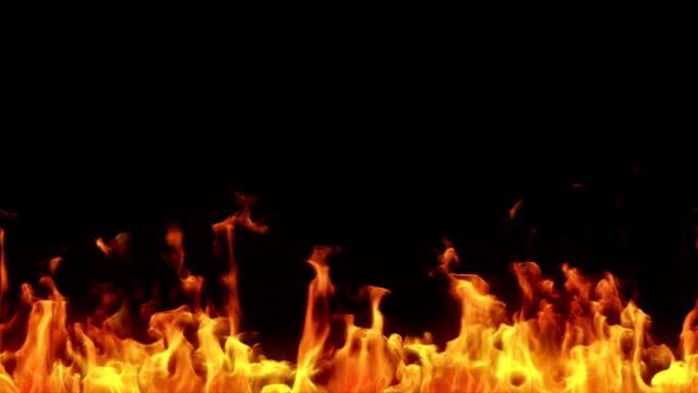 Highly detailed flames. Alpha matte. Tilable video