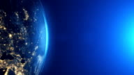 Highly detailed. Planet earth Europe zone with night time. Epic moonlight world skyline. video