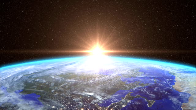 Highly Detailed Sunrise over the Earth video