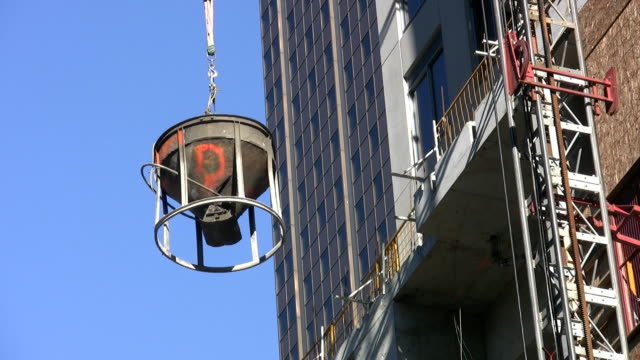 High-rise cement bucket. video
