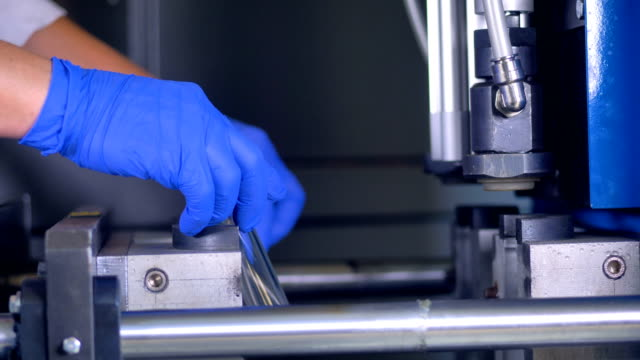 A high-speed motion of PET bottles manufacturing. video
