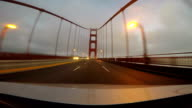 High-speed time-lapse crossing Golden Gate Bridge video