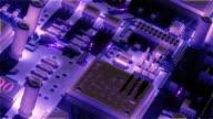 High-tech 3d animation video
