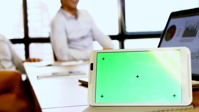 High-Tech Meetings : Creative Team of business full HD video format. video