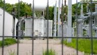 high-voltage transformer substation video