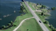 Highway 212 Bridge  - Aerial View - South Dakota, Dewey County, United States video