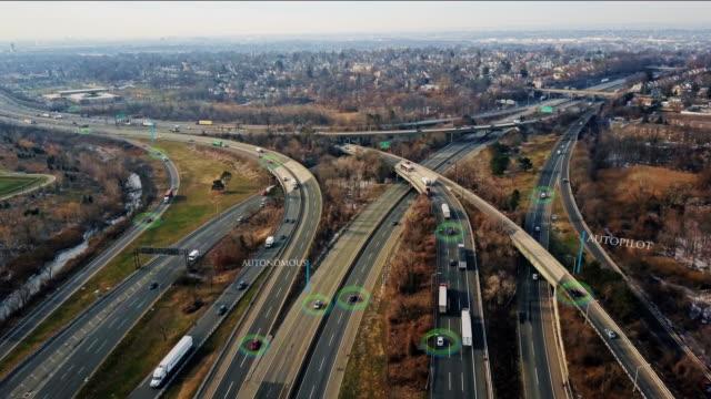 Highway and Self Driving Autopilot Autonomous Cars 4K video