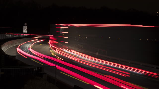 Highway and traffic at night video