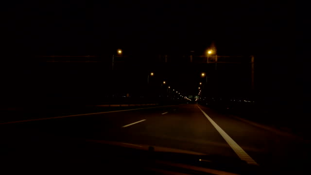 Highway at night video