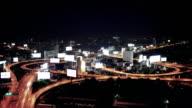 Highway at night video