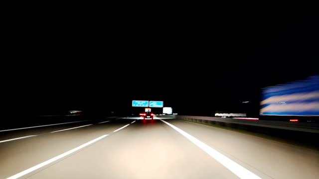 Highway drive at Night video