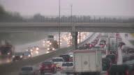 Highway, freeway, car traffic. video