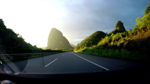 Highway hillside video