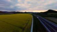HD HELI: Highway In A Rural Area video
