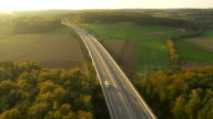 AERIAL Highway In The Countryside video