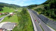 Highway road full of traffic video