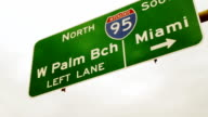 HD: Highway Sign In Florida video