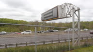 Highway sign. video