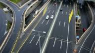 highway traffic aerial video