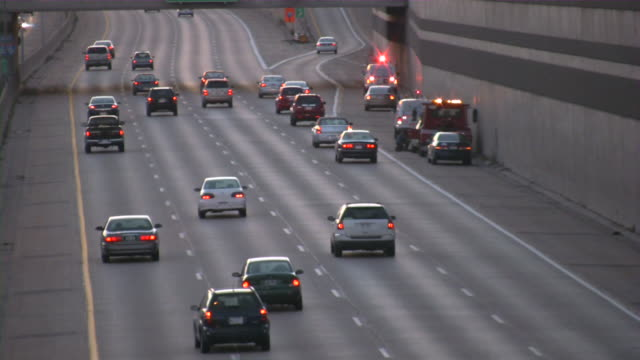 Highway traffic. Cars and trucks on freeway. Road assistance. video