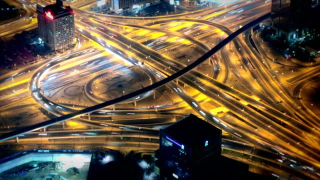 Highway traffic in Dubai video