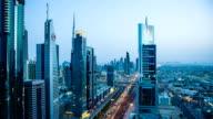 HD: Highway traffic in Dubai video
