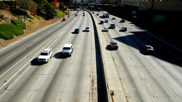 Highway Traffic in Los Angeles video