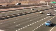 Highway traffic. Merging. video