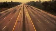 Highway traffic. Time lapse. video