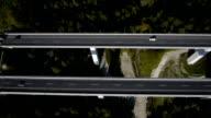 highway viaduct aerial video