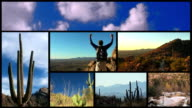 Hiking Through The Desert Montage - HD video