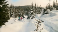 HD: Hiking With Snowshoes video