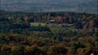 Hills And Farms  - Aerial View - New Hampshire,  Hillsborough County,  United States video