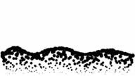 LANDSCAPE - hills, pure black dots (LOOP) video