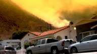 Hillside fire gets close to homes video