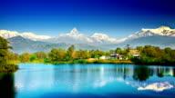 Himalaya mountains and lake video