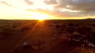 HELI Himba Settlement At Sunset video