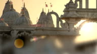 Hindu temple at sunset video