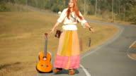 Hippie girl dancing video