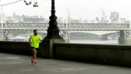 WS Hipster Jogging In London video