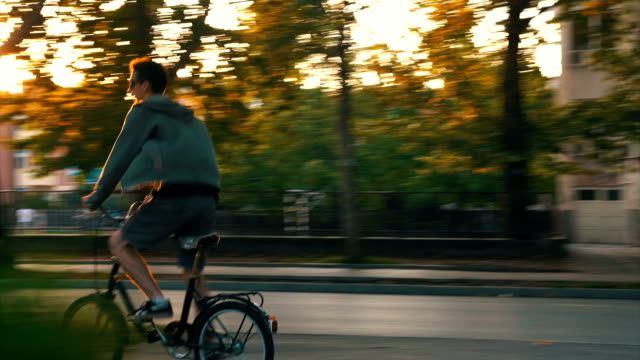 Hipster ride a bicycle video