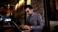 HD: Hipster Working at a Cafe video