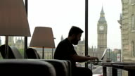 LS Hipster Working On Laptop In London video